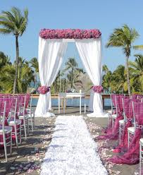 wedding ceremony arch stylish destination wedding ceremony by weddings romantique