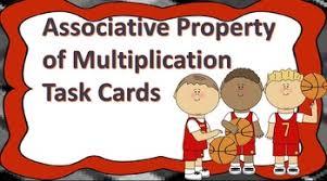associative property of multiplication task cards by natasha tidwell