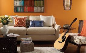 sky blue what color to paint living room with brown leather