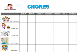after snack ideas free printable chore chart