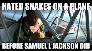 Snakes On A Plane Meme - hated snakes on a plane before samuel l jackson did misc quickmeme