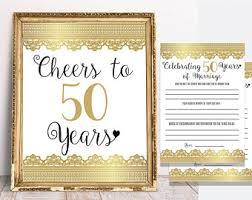 50 year wedding anniversary 50 years of marriage etsy