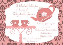bridal shower tea party invitations glancing afternoon tea party party invitations more like