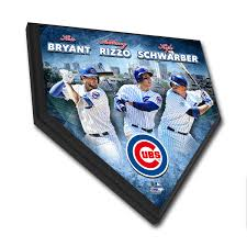 kris bryant anthony rizzo u0026 kyle schwarber home plate plaque