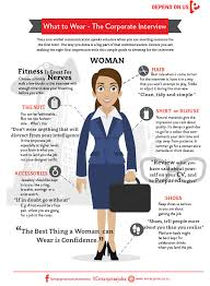 infographic the corporate interview what to wear women