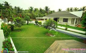 full finished home with landscaping kerala home design and floor