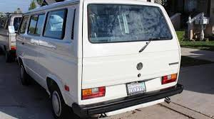 volkswagen camper trailer bring a trailer 1990 volkswagen vanagon quirky van a textbook