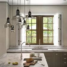 Lighting Pendants For Kitchen Islands Smoke Gray Glass Kitchen Light Pendants Design Ideas