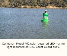 Marine Solar Lights - solar powered led navigation and marking lights from carmanah