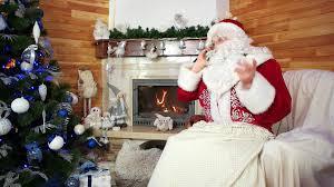 santa talking on cell phone santa claus wishing merry on