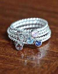 stackable birthstone ring stacking gold rings with initials and birthstones design your own