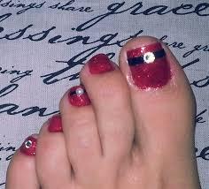 christmas toes nail art gallery