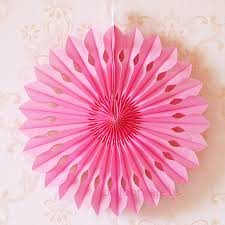 hanging paper fans cheap 16 inch pink paper fans pom wheel fans hanging decorations