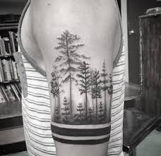 collection of 25 tree shoulder tattoos for