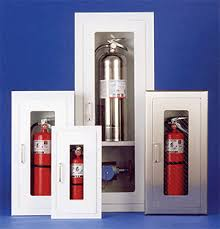 semi recessed fire extinguisher cabinet safeguard series semi recessed fire extinguisher cabinets