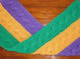 mardi gras scarves ravelry mardi gras reversible cable scarf with invisible intarsia