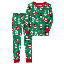 boy s santa snowman top bottoms pajama set
