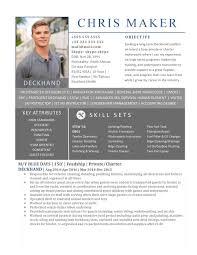 headshot and resume sample super yacht resume deckhand cv 9 page 1 jpg