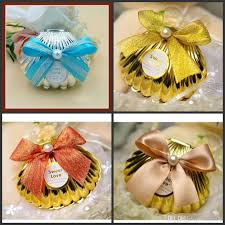 sea shell wedding party favor holder chocolate gift candy boxes