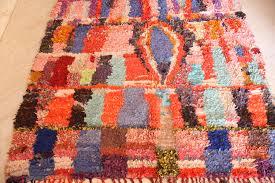 moroccan vintage boucherouite rug hand knotted 170 cm x 146 cm 5 5