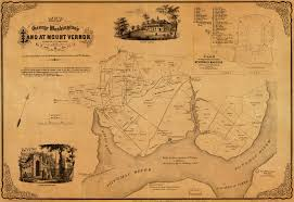 Mt Washington Map by Happy Birthday Washington Mount Vernon 1859