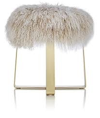 barneys new york tibetan lamb fur footstool barneys new york