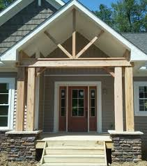 cedar porch posts traditional entry cleveland by troyer