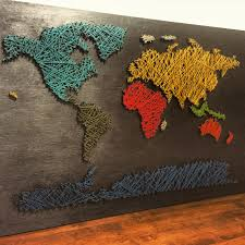 World Map Pinboard by World Map String Art Saapstore Pinterest String Art And Craft