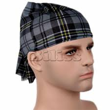 headband men wholesale promotion new black plaid cycling bandana bike