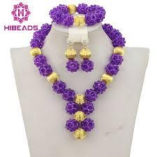fashion beads necklace images African purple beads bridal jewelry set 2017 fashion women jewelry jpg