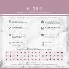 Editable Resume Format Creative Resume Template Archives Hired Design Studio