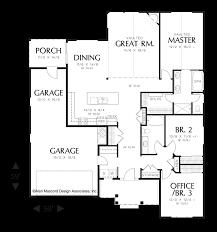 Morton Building Floor Plans Mascord House Plan 1152a The Morton