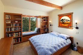 Window Seat Bookshelves Egress Window Cost Bedroom Contemporary With Built In Bookshelves