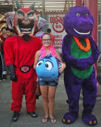 barney dinosaur red devil fan jeffersonville red