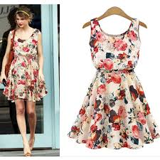 dress cheap dress print casual vintage vestidos european style