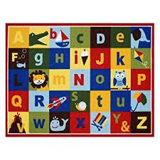 Alphabet Area Rug Amazon Com Teach Me Alphabet Learning Carpets Cute Animal