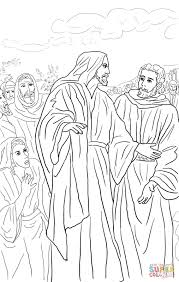 jesus heals the bleeding woman coloring page free printable