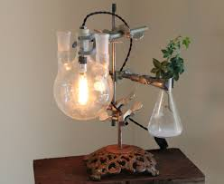 Steampunk Desk Lamp Industrial Science Lamp Steampunk Desk Flower By Objectsofindustry