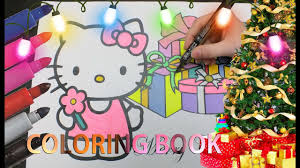 hello kitty christmas coloring book merry christmas coloring