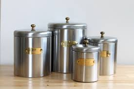 bristol ware canister set silver aluminum nesting canisters with
