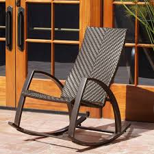 White Wicker Rocking Chair Outdoor Furniture Handsome Furniture For Outdoor Living Space Decoration