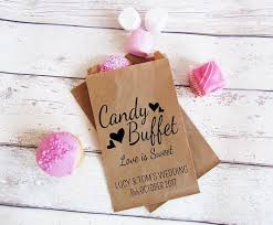 personalized loe is sweet wedding popcorn candy buffet treat bags