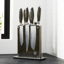 how to store kitchen knives knife sets wusthof shun and global crate and barrel