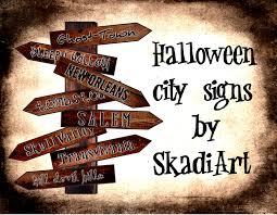vintage halloween signs printable vintage halloween ephemera decoupage city arrow signs