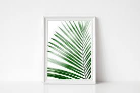palm leaf print tropical leaf print printable palm leaf