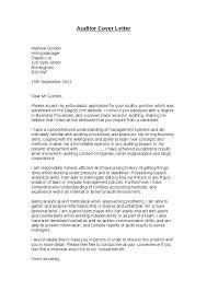 cover letter auditor sample internal auditor cover letter for
