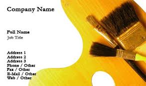 Business Cards Painting Business Card Templates Painting