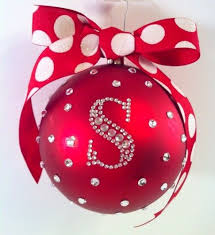 christmas ornaments with initials christmas ornaments standard monogram christmas ornament