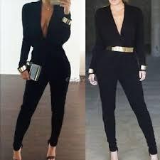 s sleeve jumpsuit black v neck plunge sleeve jumpsuit playsuit