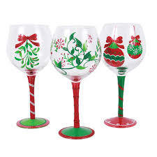 christmas glasses christmas wine glasses you ll wayfair